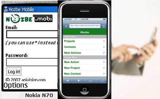 Apple iPhones and mobile phones Getting Things Done (GTD): Nozbe - getting things done gtd software task manager and to-do list for project management and time tracking. Now on Apple iPhone and Mobile Phone!